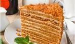 Медовый торт с персиками