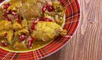 Рецепт куриных потрошков с орехами и зернами граната