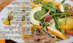 Салат з хурмою та крабовими паличками