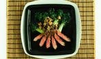 Говядина с грибами и кунжутом