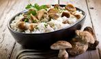 Салат грибной с рисом
