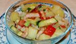 Салат из картофеля с креветками