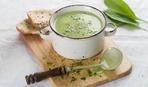 Суп-пюре из шпината и лука-порея