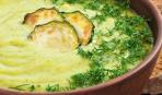 Суп-пюре из кабачков и молодой фасоли