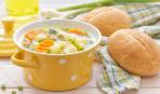Картофельный суп с манной крупой