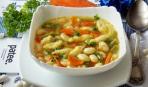 Картофельный суп с украинскими галушками