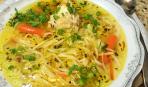 Гороховый суп с домашней лапшой