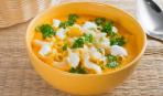 Картофельный суп с горохом и макаронами