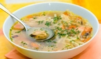 Картофельный суп с грибами и кабачками