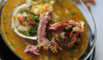 Суп из гуся с кизилом
