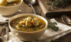 Картофельный суп с горошком