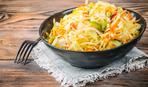 Салат из соленых огурцов и квашеной капусты