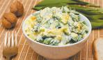 Готовим дома: теплый картофельный салат с луком-пореем