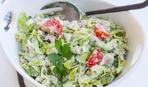 Салат из овощей со сметаной