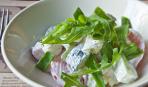 Салат из свежих огурцов и помидоров с майонезом