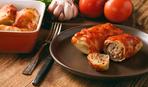 Голубцы с грибами в сметанно-томатном соусе