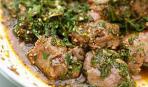 Жареное рубленое телячье мясо с яйцом