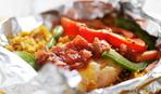 Мясо с овощами, запеченное в фольге