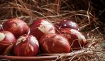 Пасхальные яйца с узором (простой лайфхак)