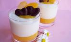 Мягкое соево-ягодное мороженое с абрикосовым пюре