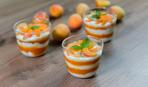 Молочний пудинг з персиком - рецепти Сенічкіна