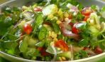 Салат из кукурузы и водяного кресса