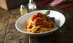 Спагетти с тремя видами помидоров
