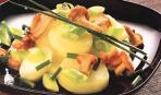 Салат с картофелем и лисичками