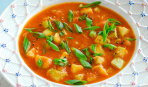 Томатный суп с цуккини