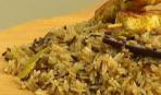 Пряный индийский рис с куриным шашлычком