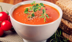 Томатный суп с орегано