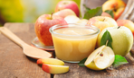 Холодный яблочный кисель с огуречной травой