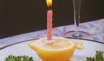 Подсвечник из лимона