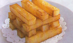 Украшение из жаренного картофеля