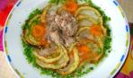Бульон с мясом и омлетом «Солнечный круг» от Анастасии Паниат