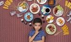 Дети со всего мира в окружении своей ежедневной пищи