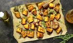 Вкусный пост: печеная тыква с тимьяном и перцем халапеньо