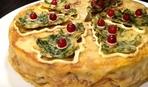 Закусочный блинный торт «Новогодько»