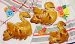 Сдобные булочки «Гуси-лебеди»