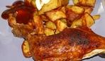 Курица, запеченная с медом и лимонной цедрой