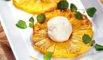 Простой пошаговый рецепт: жареный ананас с мороженым