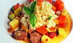 Блюдо дня: кускус с куриной грудкой и овощами