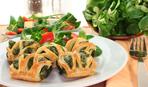 Праздничная закуска: завитки со шпинатом и фетой