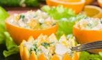 Новогодний салат с куриным филе в «корзинках»