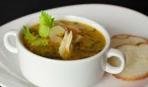 Куриный суп с томатами и сельдереем