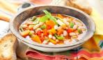 Пикантный суп минестроне