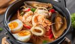 Холодный суп с кальмарами