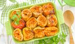 Фаршированный перец с копчеными колбасками - и ужин будет вкусным!