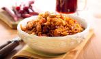Сытный гарнир: капуста, тушенная с болгарским перцем