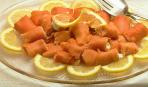 Трубочки из лосося